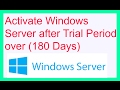How to activate windows server 2012 after trial period (180 days) - Fix Auto Shutdown problem