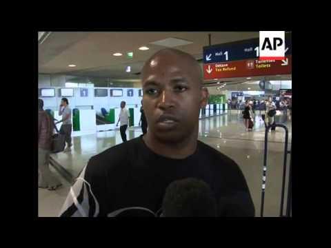 Aerials of Comoros, hospital, relatives at Moroni and Roissy airports
