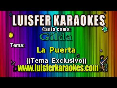 Gilda  - La Puerta -  Karaokes