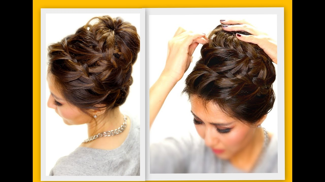 ☆ epic braid bun | braids hairstyles for long medium hair - youtube