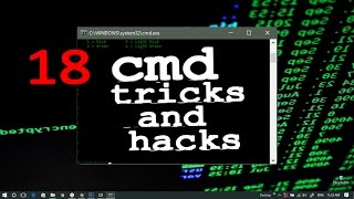18 CMD Tips, Tricks and Hacks | CMD Tutorial for Beginners | Command Prompt | Windows 7/8/8.1/10