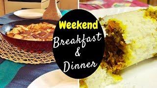 Weekend Vlog / BREAKFAST & DINNER /One-pan Bread & Egg , Fish Puttu