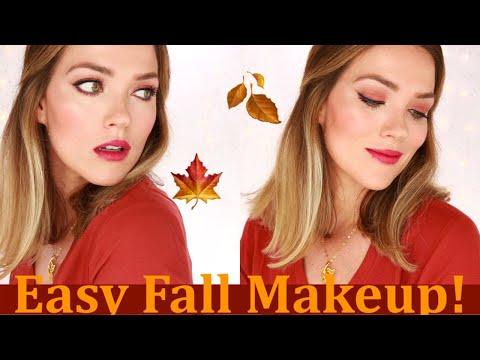 FALL MAKEUP LOOK  Easy Step by Step How To Tutorial   Matte Eyeshadow Look  Rita Almusa