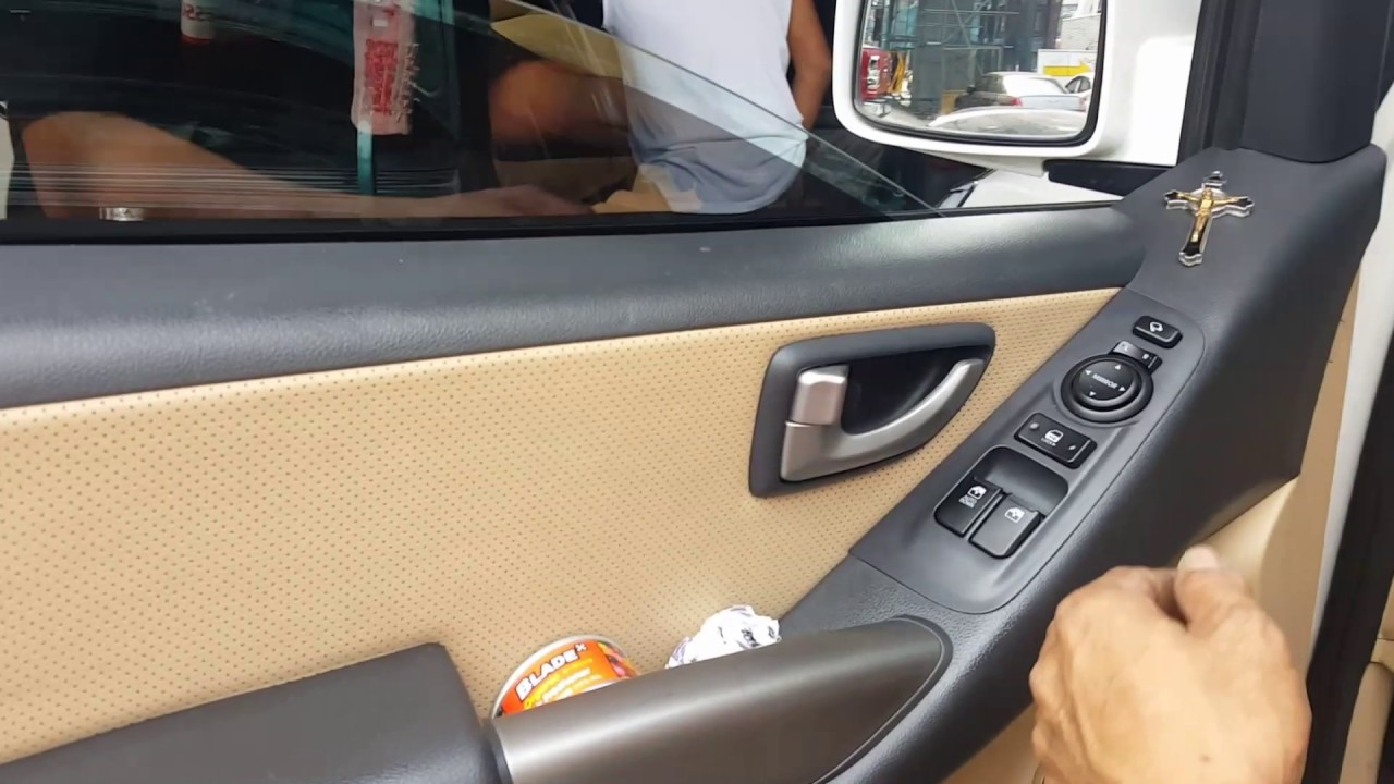 Jeff tan tutorial / hyundai starex / front door panel removal - YouTube