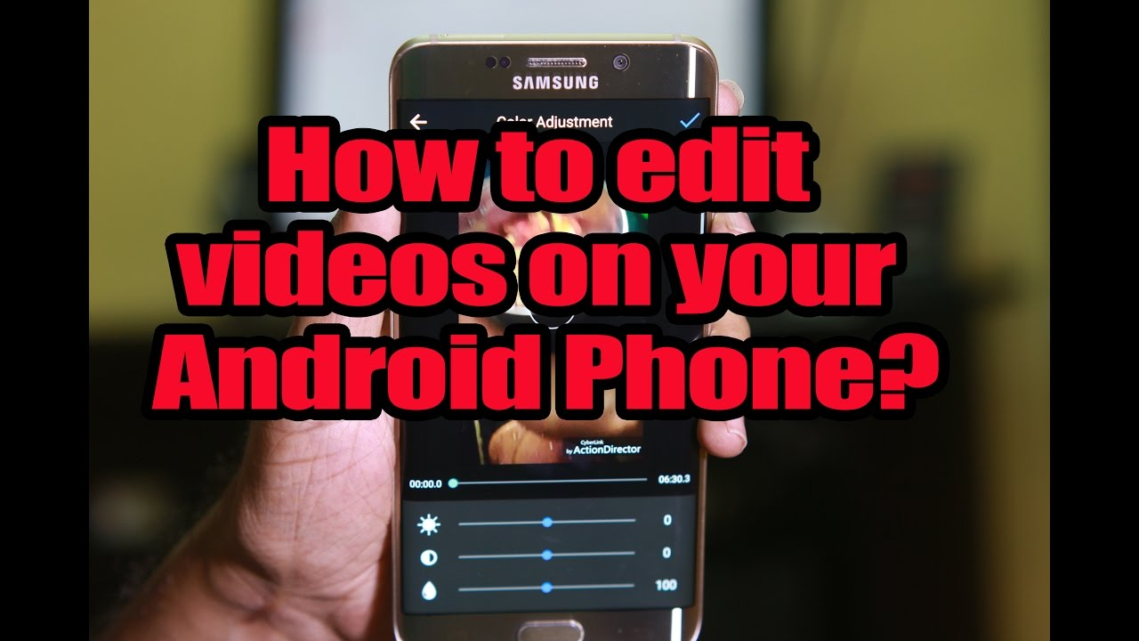 How to edit videos on your android phone youtube how to edit videos on your android phone ccuart Choice Image