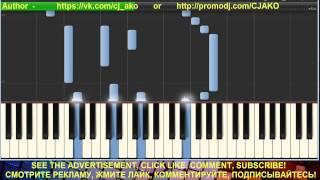 Скачать CJ AKO Тебе Synthesia Ноты Красивая мелодия Piano Relaxing Music на пианино Музыка для души сна