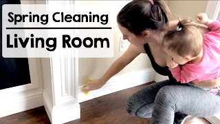 Spring Cleaning | Deep Cleaning Living Room