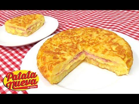 Tortilla de Patata Rellena de Jamón y Queso