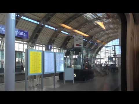 Train Journey Between Berlin Main Station And Berlin Schonefeld Airport On 29/8/17