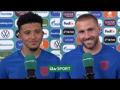 It's one of my happiest moments - Jadon Sancho & Luke Shaw after England beat Ukraine   Euro 2020