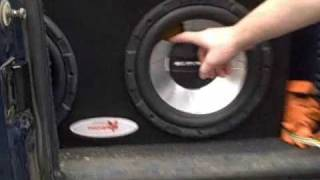 Funny BASS Reaction w/ 2 Alpine Type E Subwoofers Flexing on MRP-m500 Monoblock Amp