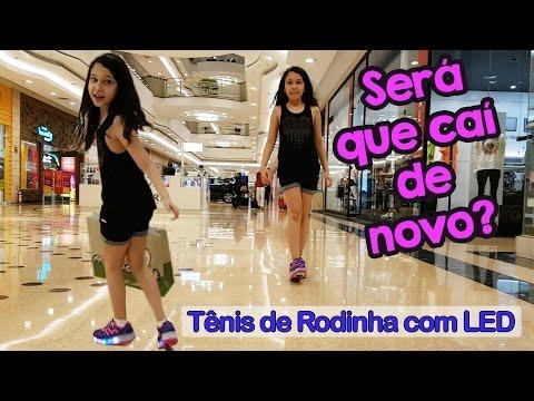 COMPRANDO MEU NOVO TÊNIS DE RODINHA COM LED NO SHOPPING - Tombo e Diversão | Luluca