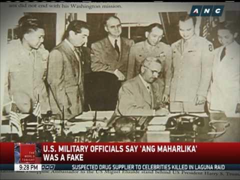 US Army: Ferdinand Marcos faked 'Maharlika'