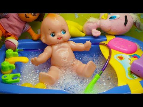 Mainan Bayi! Mainan Anak Bayi Mandi! Bayi Boneka Bayi Mandi! Baby Doll Bath!