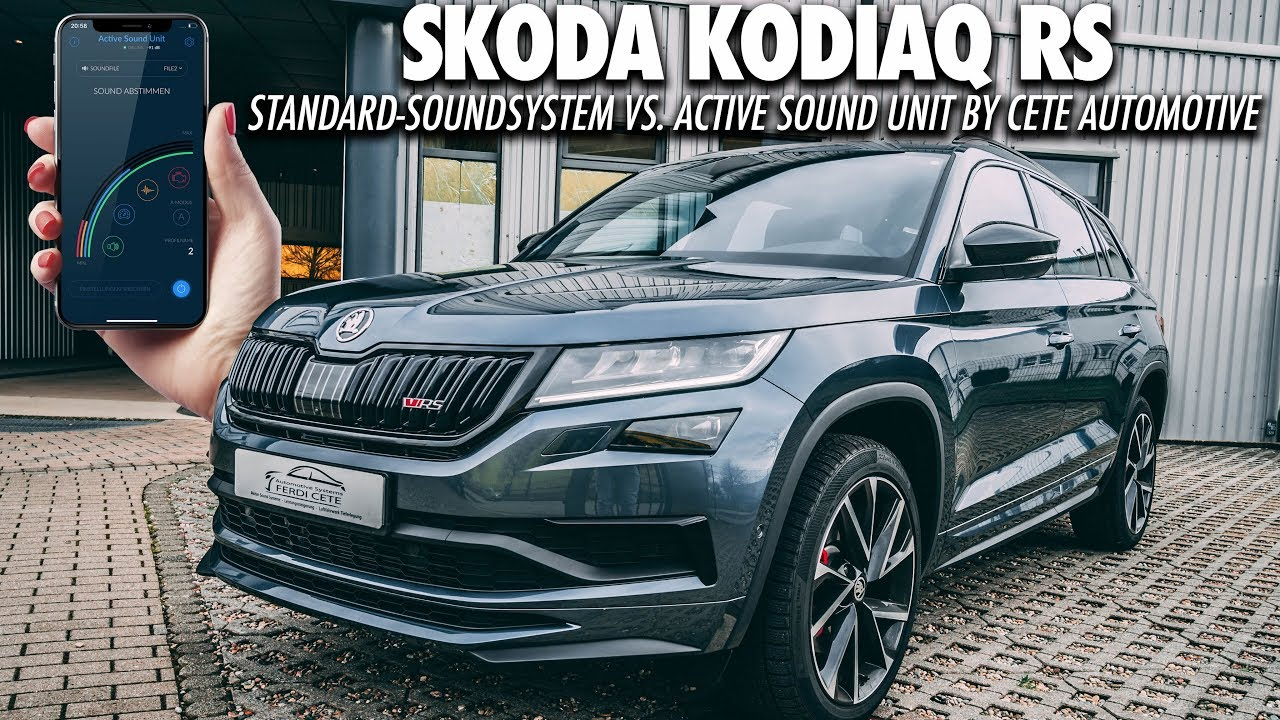 vergleich skoda sound generator vs cete soundmodul kodiaq rs 2019 soundsystem youtube. Black Bedroom Furniture Sets. Home Design Ideas