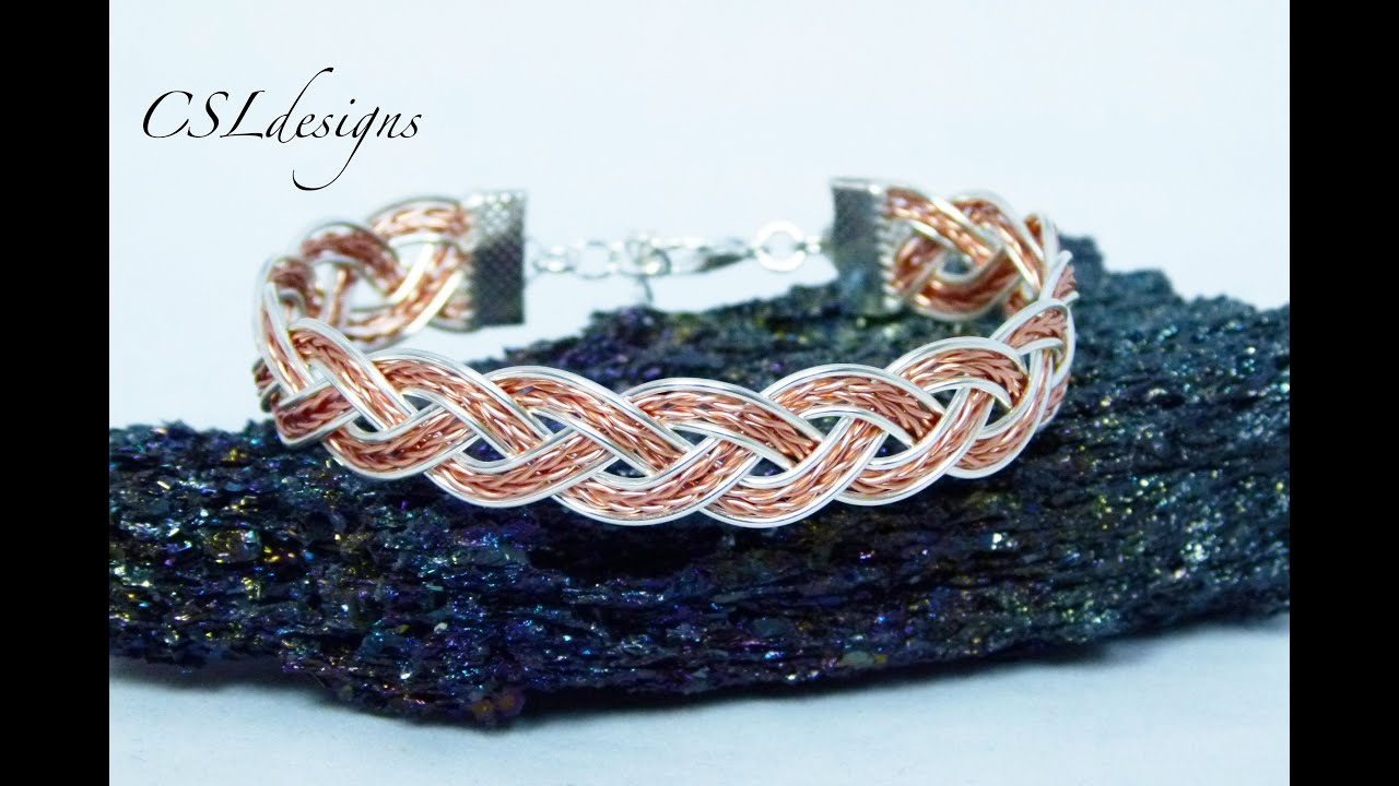 Braided Wire Bracelet Youtube