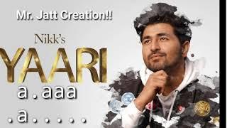 Yaari Song!! Lyrics!! Lyrical Video!! Sharry Mann!!  Latest Punjabi song!! Mr. Jatt Creation!!