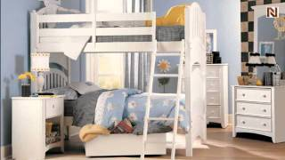 Lea 343-976nr 3/3 Twin Over Twin Bunk Bed From The Getaway-white Finish