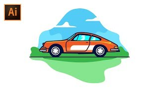 How to Create Classic Car Vector in Adobe Illustrator