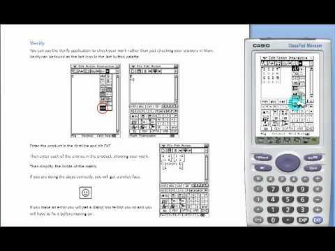 how to turn on classpad 330