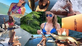МЕГАПОДБОРКА ДЕВУШКИ НА РЫБАЛКЕ. GIRLS ON FISHING
