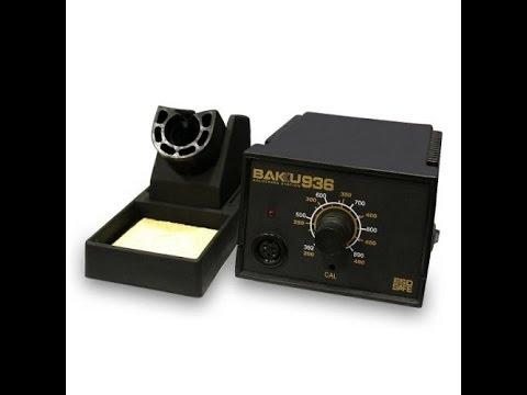 Паяльная станция BK-936 BAKU для контактной пайки. Видео от Electronoff.