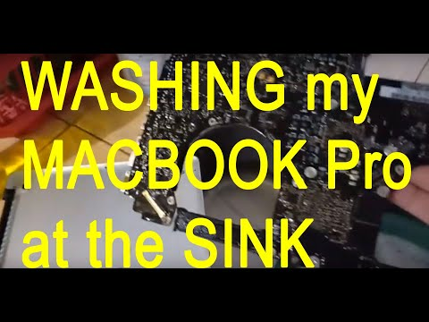 Washing my Macbook Pro at the Sink