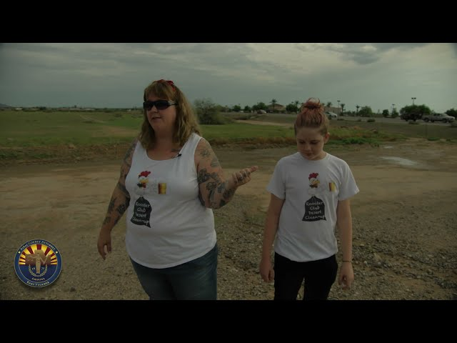 Pinal County community pitching in and picking up trash