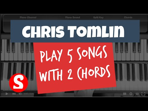 Learn 2 Chords To Play 5 Chris Tomlin Piano Songs | Absolute Easy Beginners Piano Lesson