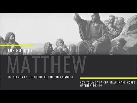 How To Live As A Christian In The World | Matthew 5:13-16 | Sunday Morning Service | 28th June 2020