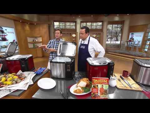 Indoor Electric Turkey Fryer Butterball XXL Digital 22 lb Steel and Black