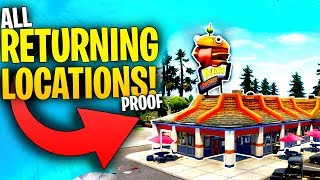 ALL Locations That WILL RETURN Through Fortnite SEASON 10! | Greasy Grove, Retail Row & MORE!