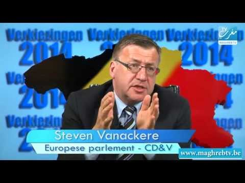 Steven Vanackere & Lahlali Abderahim (CD&V)-Verkiezingen 2014-Maghreb TV