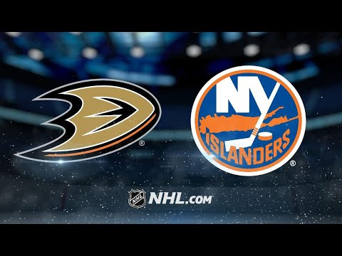 Lindholm finishes hat trick in OT as Ducks beat Isles