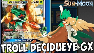 (TROLL DECK) Sun And Moon Decidueye GX! Win Games On Turn One! FEATHER ARROW W/ YellowSwellow PTCGO