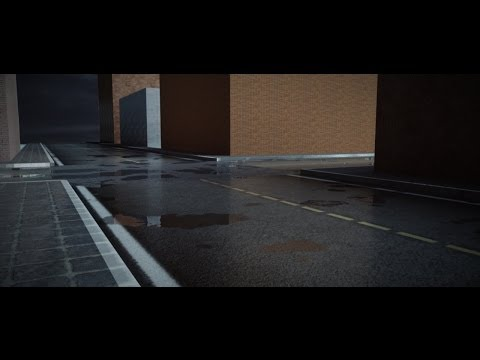 Photoreal wet asphalt