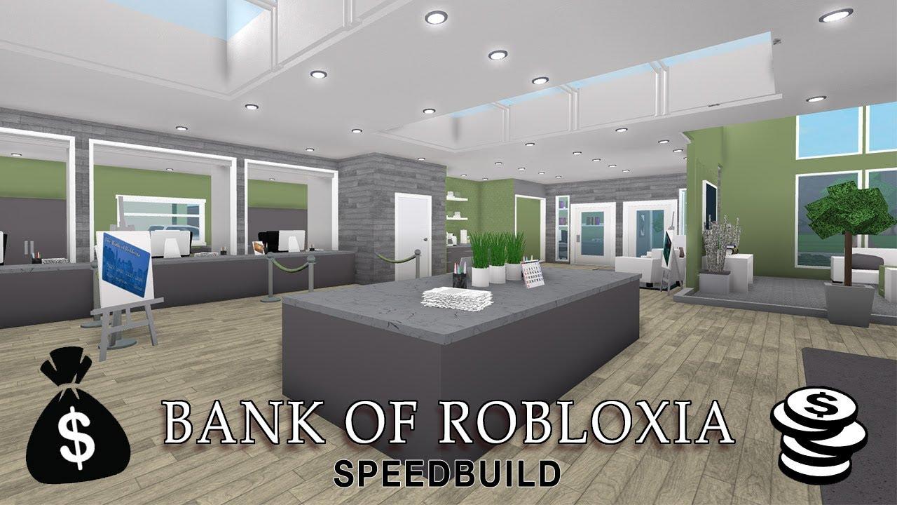 Roblox Bloxburg Bank Of Robloxia Speedbuild YouTube