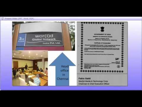 Presentation of Wor(l)d Your Network for INDIA!