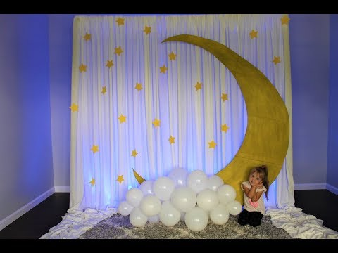 Baby Shower Moon Backdrop DIY | How To