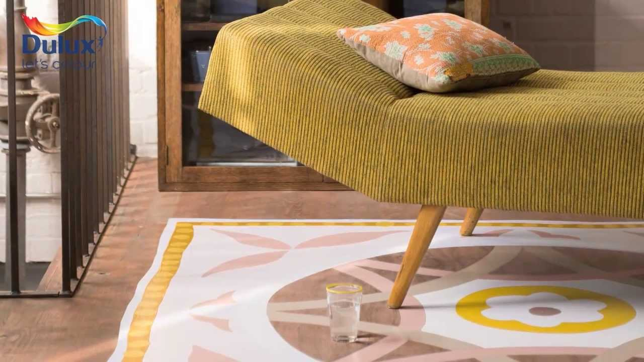 How To Create A Hand Painted Rug Dulux Youtube