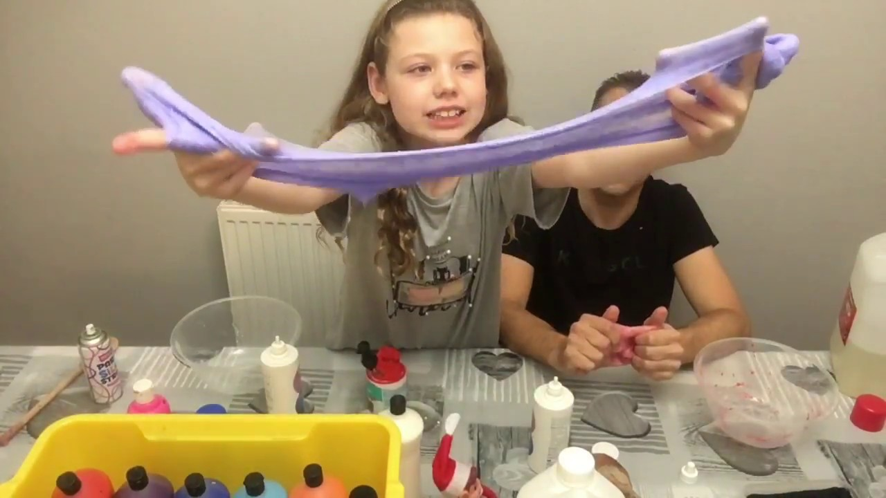 🇬🇧 Silly String Slime  – How to Make Slime .