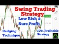 Profitable Swing Trading Strategy with Low risk and High Profit(Hedging with Option) in Hindi #50