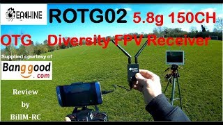 ROTG02 5.8g 150 Ch OTG Diversity Receiver review