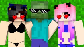 Monster School : TWINS ZOMBIE FAMILY LIFE CHALLENGE - Minecraft Animation