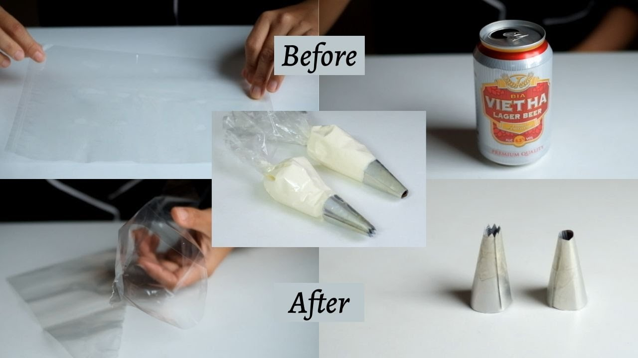 Hướng dẫn làm TÚI BẮT KEM và ĐUI BẮT KEM chi tiết | How to make Piping Bag & Nozzle | Lilo Kitchen