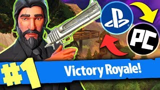 FORTNITE: MY FIRST REAL MULTIPLATFORM VICTORY!!