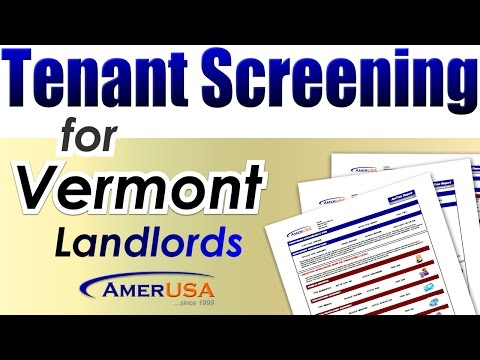 Vermont Tenant Screening Services for Landlords