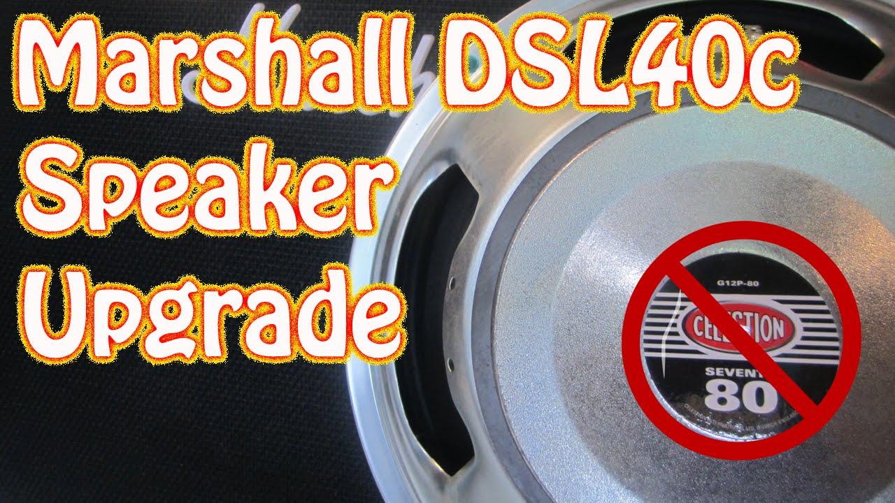 DIY How to Replace an Amplifier Speaker Marshall DSL 40c Celestion Speaker  Upgrade Vintage 30