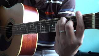 Cover of Foo Fighters - Big Me (acoustic guitar + voice) Full HD 1080