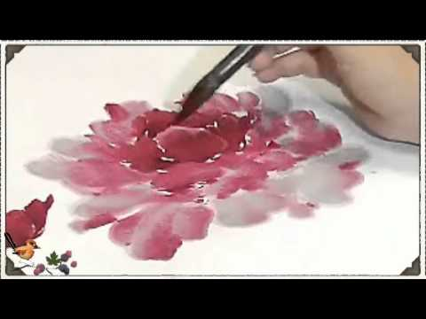 raggedy bird watercolor flower painting celebrated chinese artist